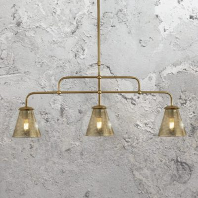 Mesh Glass 3 Light Pendant Bar