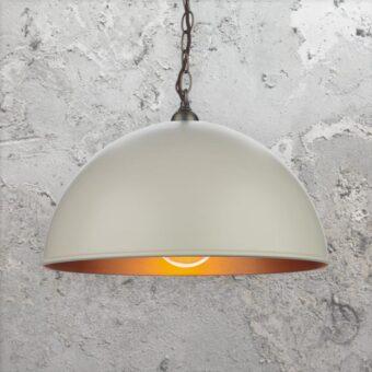 Metal Cream Industrial Pendant Light