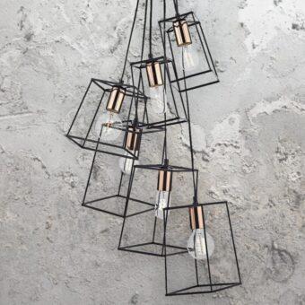 Metal Frame Cluster Pendants
