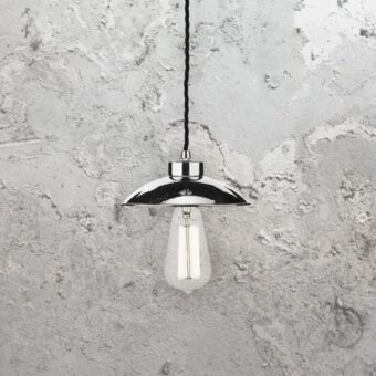 Polished Chrome Mini Dome Vintage Pendant Light
