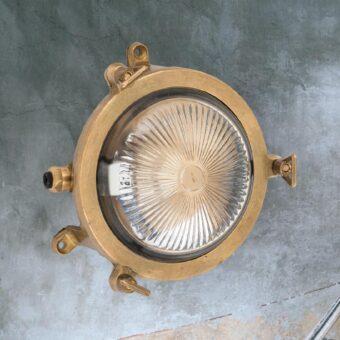 Miniature Round Brass Bulkhead
