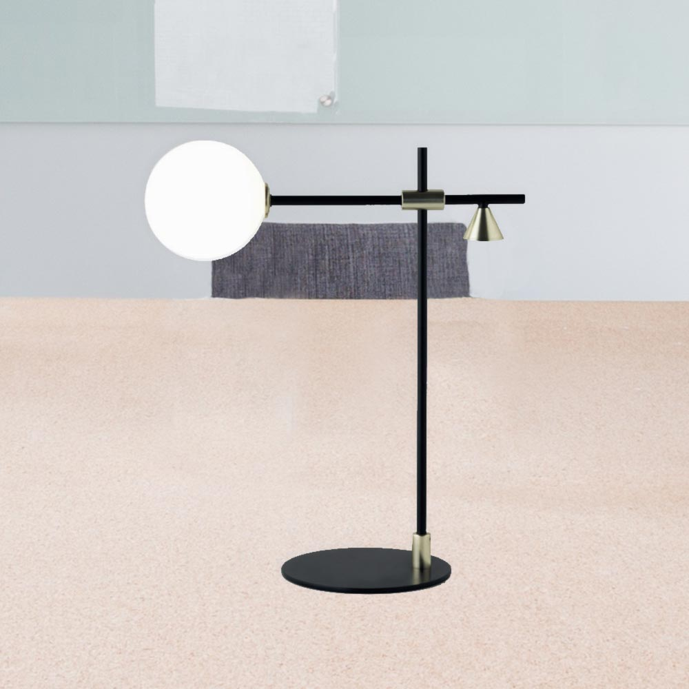 Metal Minimal Opal Table Lamp Cl 34710 E2 Contract