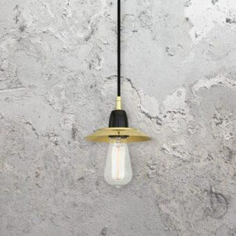 Minimal Polished Brass Pendant Light