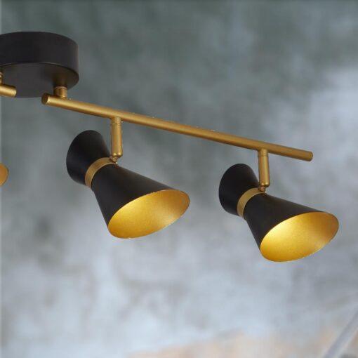 Modern 4 Light Gold Spotlight Bar