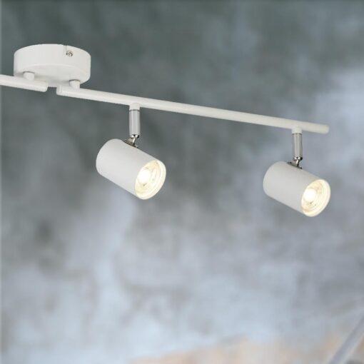 Modern 4 Light White Spotlight Bar