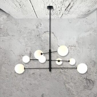 Modern 8 Light Pendant