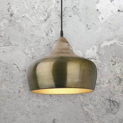 Modern Aged Gold Pendant Light