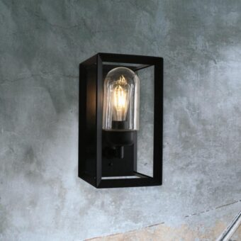 Modern Black Outdoor Wall Light