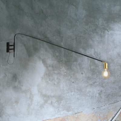 Modern Black Swing Arm Wall Lamp