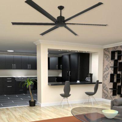 Modern Brown Ceiling Fan