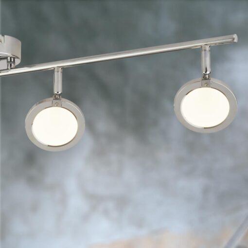 Modern Chrome 4 Light Round Spotlight Bar