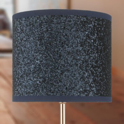 Modern Copper Touch Lamp with Navy Shade