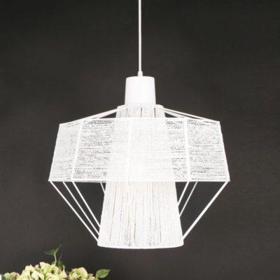Modern Cotton White Yarn Pendant Light