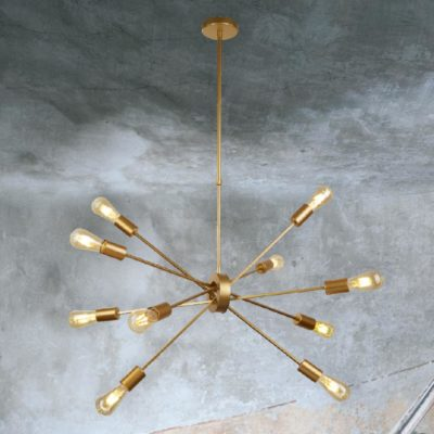 Modern Gold 10 Light Pendant
