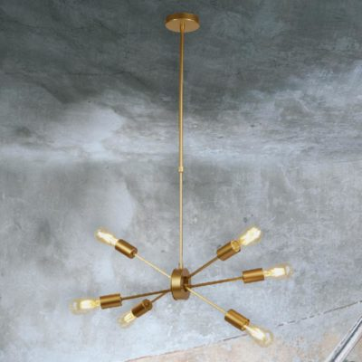 Modern Gold 6 Light Pendant