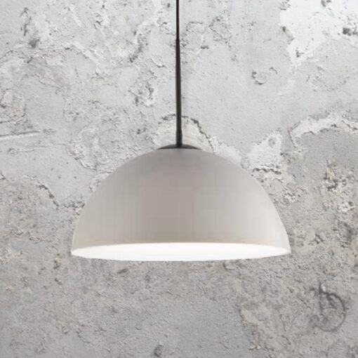 Modern Grey Dome Pendant Light
