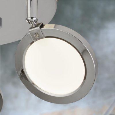Modern Round Chrome 3 Light Spotlights
