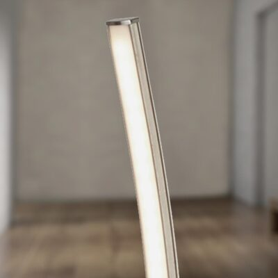 Modern Silver LED Wave Floor Lamp