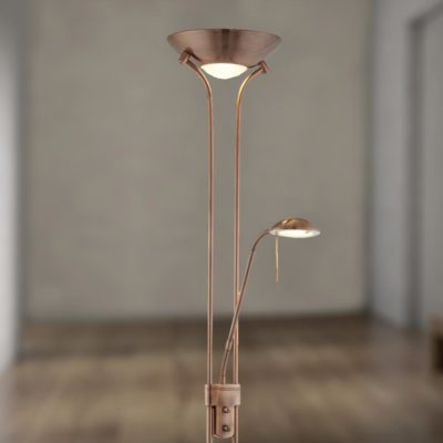 Mother & Child Antique Copper Floor Lamp