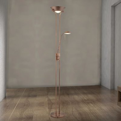 Mother & Child Copper Floor Lamp