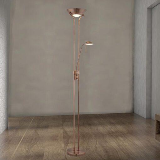 Mother & Child Copper Floor Lamp