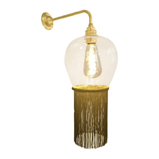 Mustard Yellow Fringe Glass Wall Light