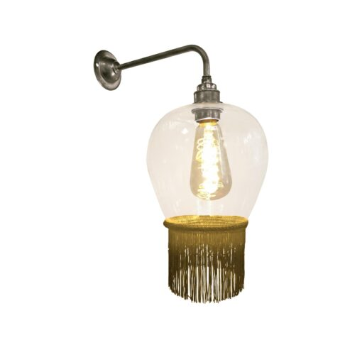 Mustard Yellow Fringe Glass Wall Light