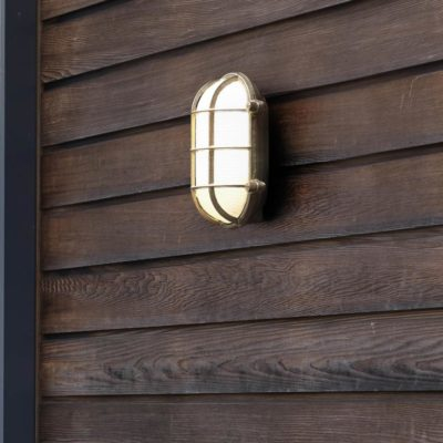 outdoor oval nautical natural brass bulkhead