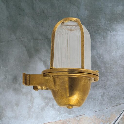 Natural Brass Exterior Coastal Wall Light