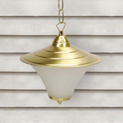 Natural Brass Exterior Vintage Hanging Lantern