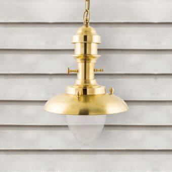 Natural Brass Fisherman Lantern Pendant Light