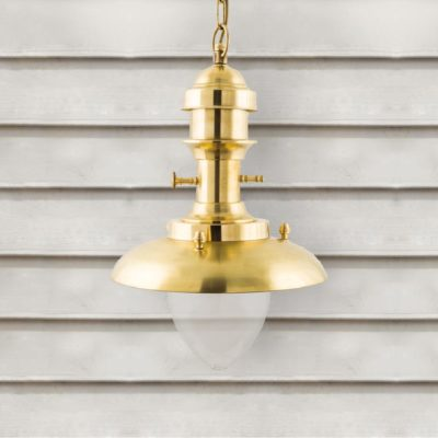 Natural Brass Fisherman Lantern Pendant Light