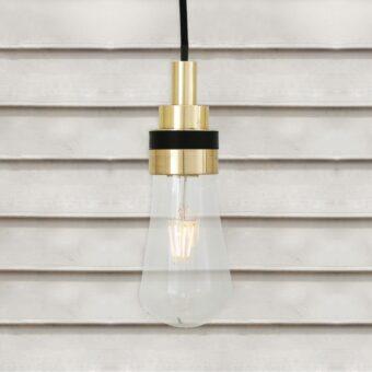 Natural Brass Minimal Outdoor Pendant Light
