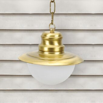 Natural Brass Nautical Opal Globe Lantern Pendant Light