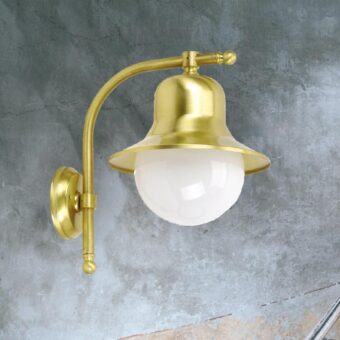 Natural Brass Nautical Vintage Wall Lantern
