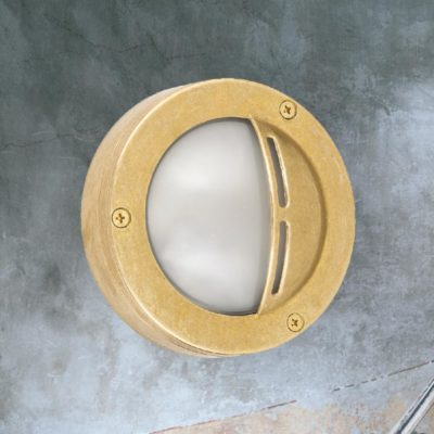 Natural Brass Small Round Eyelid Bulkhead
