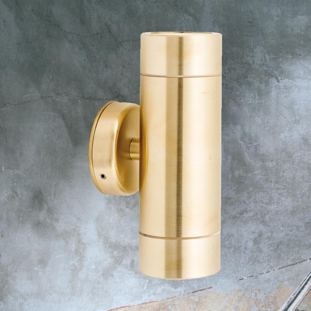 Outdoor Brass Up Down Wall Light Cl 39173 E2 Contract Lighting Uk