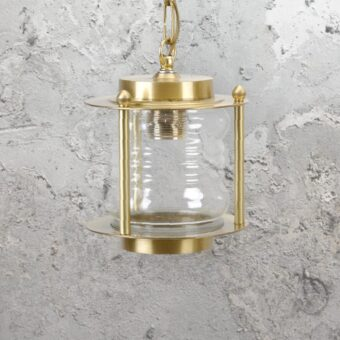 Natural Nautical Brass Lantern Pendant Light
