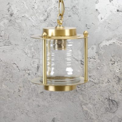 Natural Nautical Brass Lantern Pendant Light