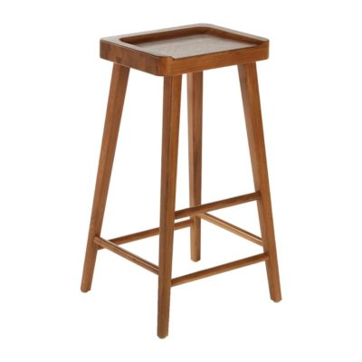 Natural Oak Wood Bar Stool