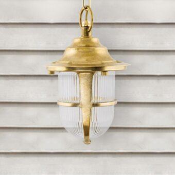 Natural Outdoor Brass Pendant Lantern