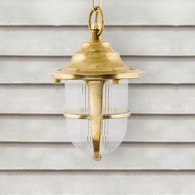 Natural Outdoor Brass Pendant Lantern