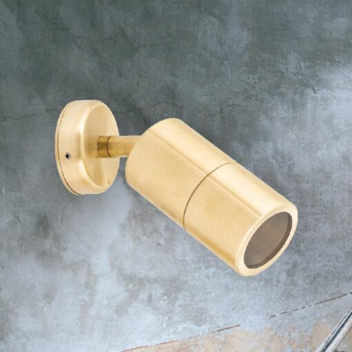 Natural Outdoor Brass Spotlight
