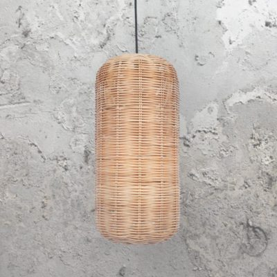 Natural Oval Woven Rattan Pendant Light