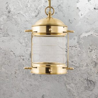 Natural Solid Brass Nautical Hanging Oil Lantern
