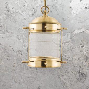 Natural Solid Brass Nautical Hanging Oil Lantern