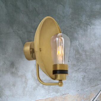 Natural Solid Brass Outdoor Wall Light