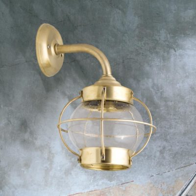 Natural Vintage Brass Wall Lantern