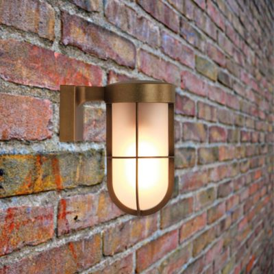 outdoor nautical antique brass wall light