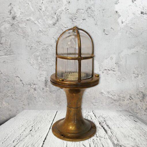 Nautical Brass Pedestal Light,Outdoor Brass Pedestal Light,SmallExteriorNautical Brass PedestalLight